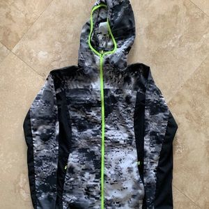 Nike Women's Dri-Fit Running XS Camo Volt Full Zip